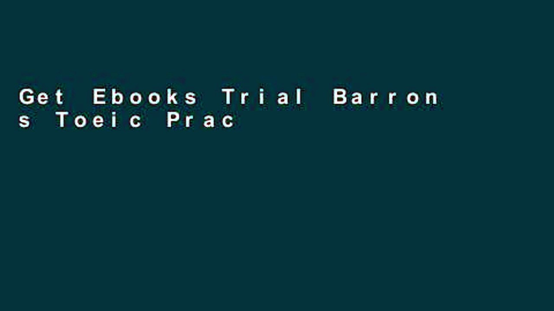 Get Ebooks Trial Barron s Toeic Practice Exams with MP3 CD, 3rd Edition (Book   MP3 CD) P-DF Reading