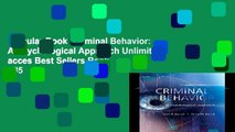 Popular Book  Criminal Behavior: A Psychological Approach Unlimited acces Best Sellers Rank : #5