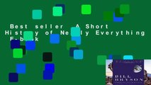 Best seller  A Short History of Nearly Everything  E-book