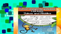 New Releases Cursive Handwriting Workbook for Kids: Jokes and Riddles  Unlimited