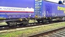 LDE2100 609 009-9 & Tren FOX Rail Intermodal Train in Gara Oradea Station - 29 March 2018