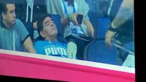 Diego Maradona sleeping during Argentina vs Nigeria Match - Group stage match in World Cup 2018