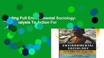 Reading Full Environmental Sociology: From Analysis To Action For Ipad