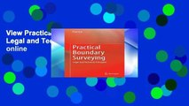 View Practical Boundary Surveying: Legal and Technical Principles online