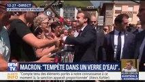 Tout sourire, Emmanuel Macron s'offre un bain de foule et une séquence communication à la Mongie