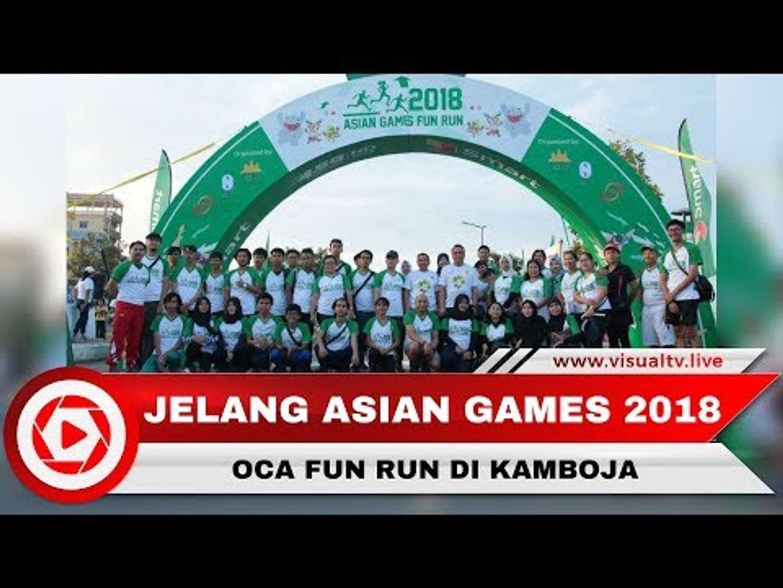 Jelang Asian Games 2018, CdM Indonesia Hadiri Oca Fun Run di Kamboja