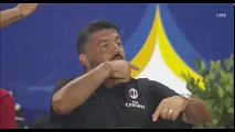 Gennaro Gattuso and Mourinho Joke About Taking Penalties Themselves During Milan vs Manchester United!