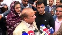 Emotional Nawaz Sharif and Maryam Nawaz when talking about his wife Begum Kulsoom Nawaz