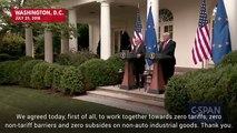 Trump Announces Tariff Deal With EU's Juncker During Joint Press Conference