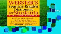 New Releases Webster s Spanish-English Dictionary for Students, Second Edition  Any Format
