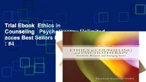 Trial Ebook  Ethics in Counseling   Psychotherapy Unlimited acces Best Sellers Rank : #4