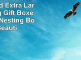 Alef Elegant Decorative Themed Extra Large Nesting Gift Boxes 6 Boxes Nesting Boxes