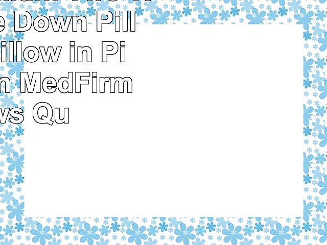 Jasper Premium Two White Goose Down Pillow with Pillow in Pillow Design MedFirm Pillows