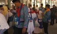 450 Jemaah Calon Haji Tiba di Asrama Haji Sudiang, Makassar