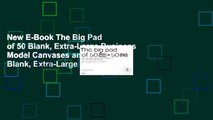 New E-Book The Big Pad of 50 Blank, Extra-Large Business Model Canvases and 50 Blank, Extra-Large