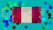 About For Books  Physical Processes of the Interaction of Fusion Plasmas with Solids
