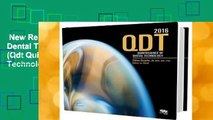 New Releases Quintessence of Dental Technology 2016: 39 (Qdt Quintessence of Dental Technology)