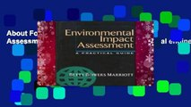 About For Books  Environmental Impact Assessment: A Practical Guide (Environmental engineering