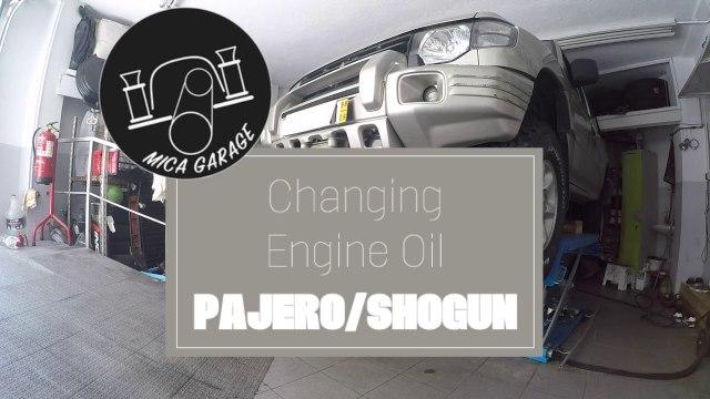 Mitsubishi Pajero:Shogun - Changing Engine Oil #mitsubishiPagero #mitsubishiShogun