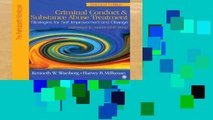 D0wnload Online Criminal Conduct and Substance Abuse Treatment: Strategies For Self-Improvement