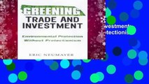 New Releases Greening Trade and Investment: Environmental Protection Without Protectionism  For