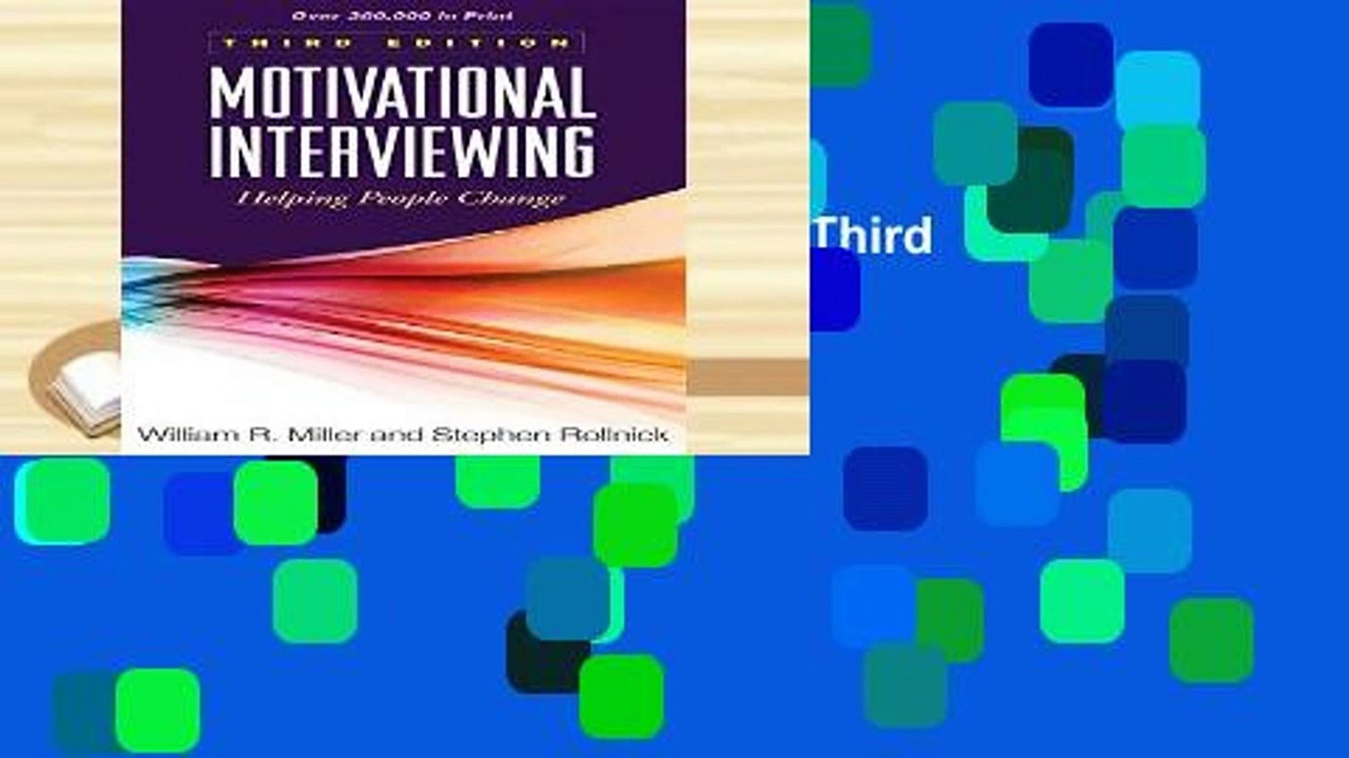 View Motivational Interviewing, Third Edition: Helping People Change (Applications of Motivational
