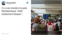 Départ en vacances: Gare Montparnasse.