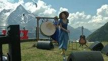 Du jazz, vue sur Mont-Blanc