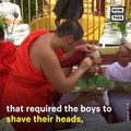 The Thai cave boys are honoring the diver who died while trying to rescue them by becoming novice monks