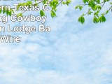 Western Peak 3 Pc Luxury Western Texas Cross Praying Cowboy Horse Cabin Lodge Barbed Wire