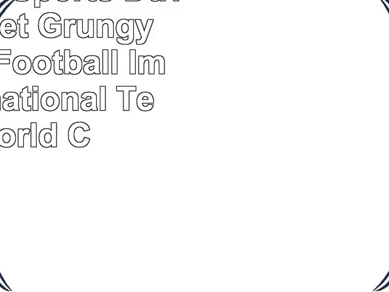 Ambesonne Sports Duvet Cover Set Grungy American Football Image International Team World