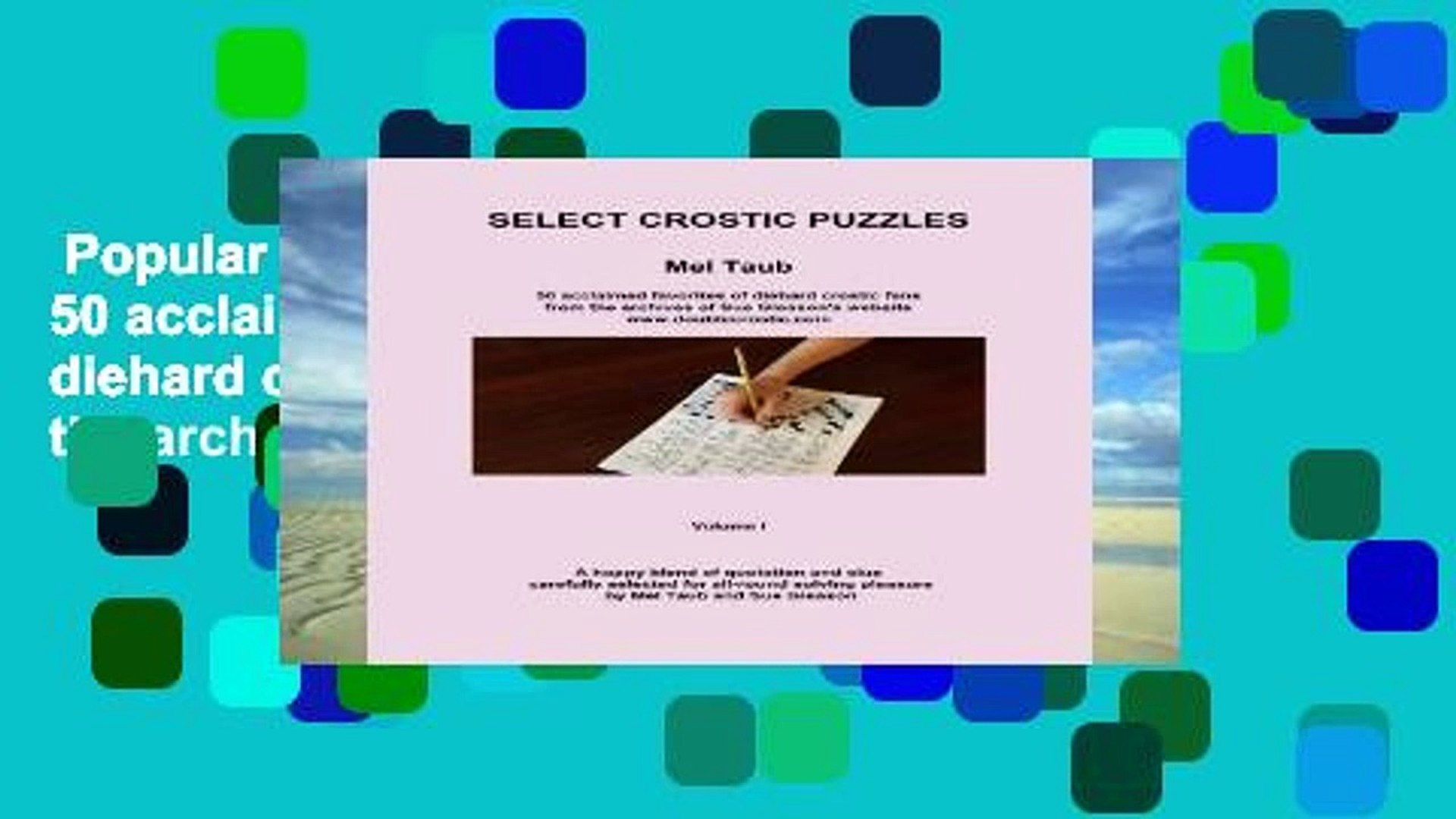 50 Puzzles from the archives of Sue Gleasons doublecrostic website Choice Double Crostics