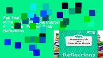 Full Trial Harcourt School Publishers Reflections California  Homework   Practice Book Reflections