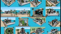 SIMS 5 MANSION BUILDING AS A LUXURY HOUSEBOAT FLOATING ON OCEAN   MODERN FLOATING HOUSE   Luxury Yac