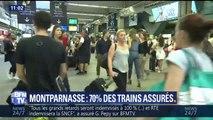 70% des trains circulent ce samedi au départ des gares de Montparnasse et d'Austerlitz