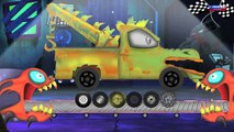 effrayant monstre camion | monstre camion stunts | enfants camion jouet | Scary Monster Truck