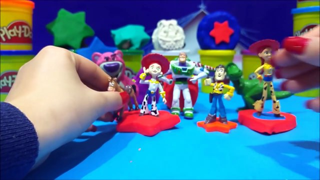 Toy Story 3 Play Doh Surprise Toys Video Review Sheriff Woody Buzz Lightyear Juguetes de T