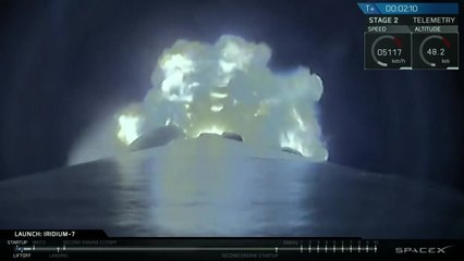 Launch & Landing of Falcon 9 with Iridium NEXT 56-65 from Vandenberg AFB