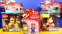 World Of Nintendo Super Mario Bros. Mario Luigi with Donkey Kong Bowser Toys and Playset