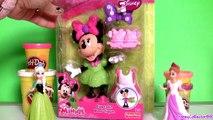 Play Doh Minnie Mouse Cupcake Bow Tique with Princess Anna ♥ Elsa Disney Frozen El Reino d