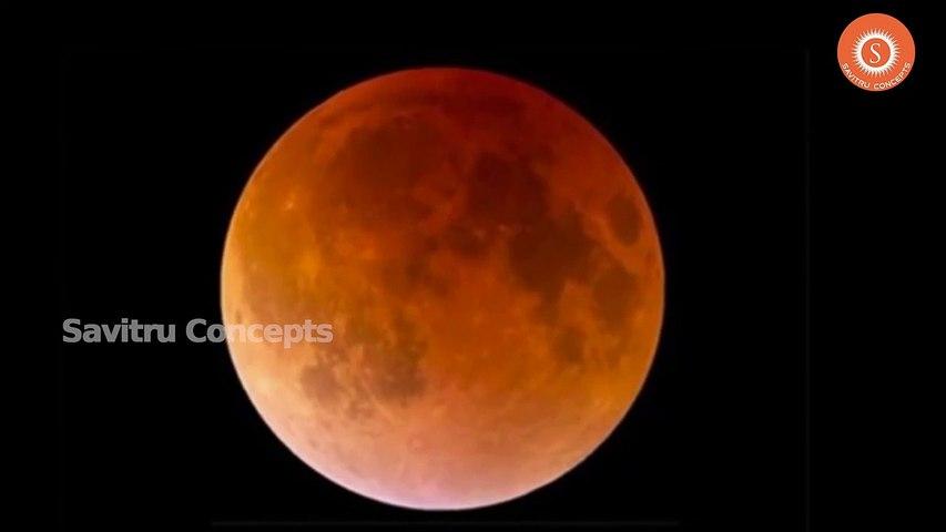 ఆకాశం లో అద్భుతం || Blood Moon July 27 2018 Total Rare Lunar Eclipse In July | Godialy.com