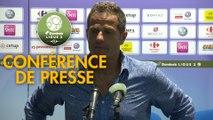 Conférence de presse Grenoble Foot 38 - FC Sochaux-Montbéliard (1-0) : Philippe  HINSCHBERGER (GF38) - José Manuel AIRA (FCSM) - 2018/2019