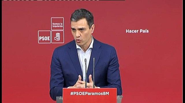 Pedro Sánchez exigirá a Rajoy una cuestión de confianza si no aprueba los Presupuestos Generales