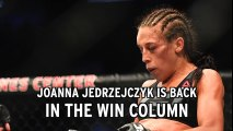 Joanna Jedrzejczyk back in win column after beating Tecia Torres