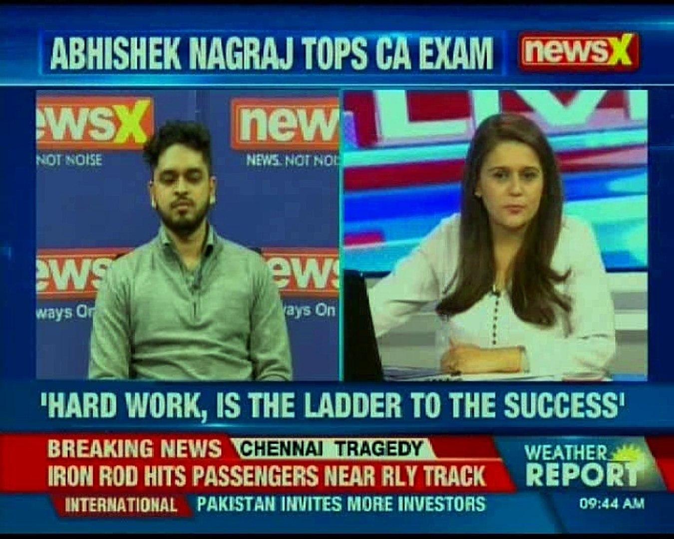Abhishek Nagraj tops CA exam, secured 539 marks