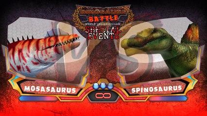 Mosasaurus VS Spinosaurus : Dinosaurs Battle Special