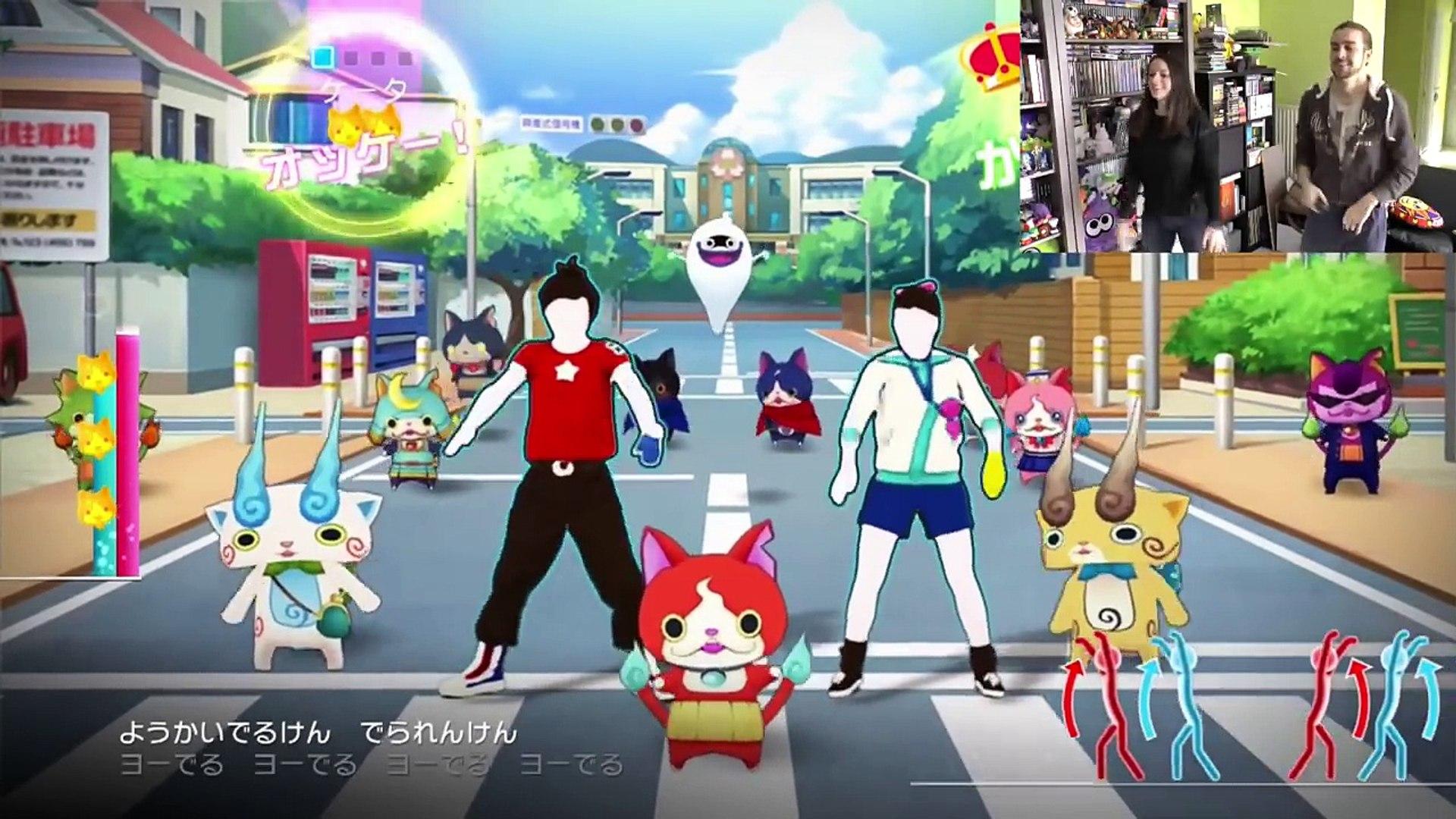 Yokai Watch Just Dance Wii U Guillaume Et Kim Dansent Avec Jibanyan