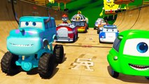 Cars Luigi and McQueen Robocar Poli and Roy PAW Patrol Marcus Blaze And The Monster Machin