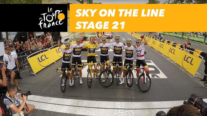 La team Sky sur la ligne / Sky on the line - Étape 21 / Stage 21 - Tour de France 2018