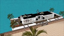 Sims freeplay house ideas one story youtubers house 6 bedroom house villa Floating houseboat yacht l